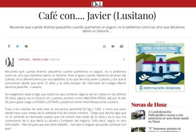 Hotel Restaurante Lusitano Lobios - Alojamiento Turismo - Geres - Portas do Xurés - Reserva da Biosfera - Baixa Limia - Gastronomía - Cafe con